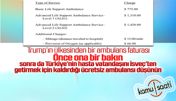 New York'ta ambulans çağırmanın bedeli 1420 dolar