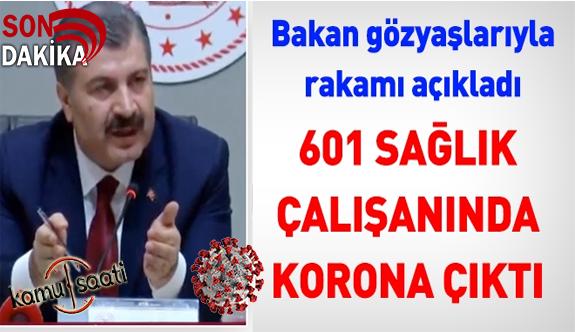 Sağlık Bakanımız Fahrettin Koca Ağlayarak Açıkladı: 601 Sağlık Personeli Var