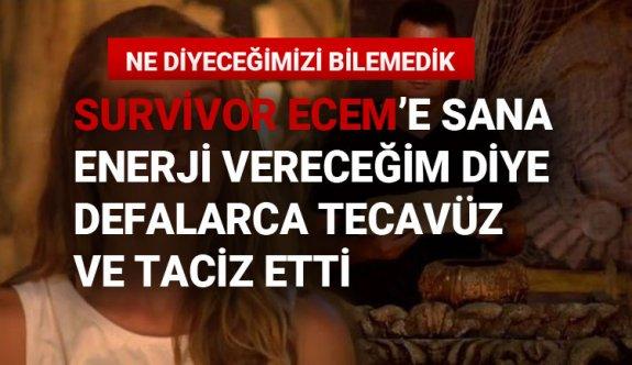 Survivor yarışmacısı Ecem Karaağaç'a enerji vereceğim deyip bakın neler yaptı!
