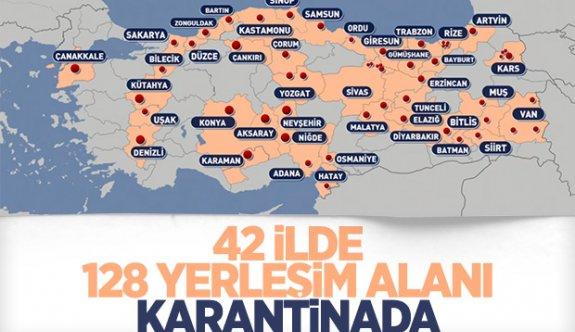 Türkiye'de karantinaya alınan yerler neresi?