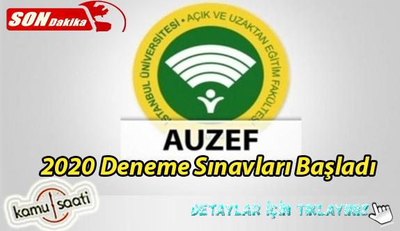 AUZEF Deneme Sınavları Başladı!  AUZEF 2020 Sınav Takvimi işte Detaylar