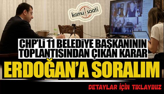 CHP'li belediyeler bütçeyi toparlayamayınca Cumhurbaşkanı'ndan toplantı talep ettiler!