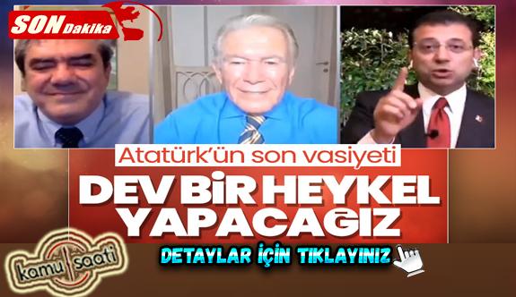 Ekrem İmamoğlu: İstanbul'a yakışır bir heykel yapacağız