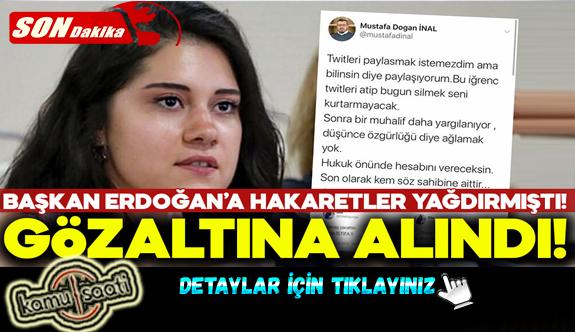 Erdoğan'a hakaret eden CHP'li gözaltına alındı!