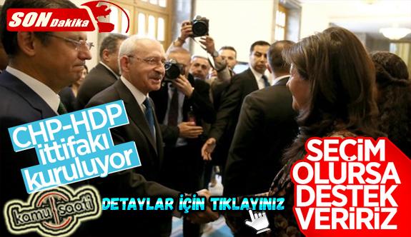 HDP'den yeni ittifaklara yeşil ışık CHP ve HDP İttifaklarını Artık Gizlemiyor