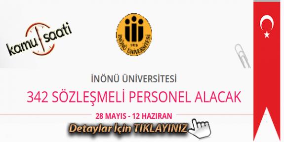 İnönü Üniversitesi 342 Sözleşmeli Personel Alımı Yapacak İş Başvurusu ve Başvuru Formu