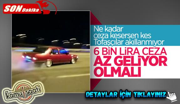 İstanbul Tuzla'da Drift Yapan Çılgın Tofaşcı Yakalandı! İşte Yazılan Trafik Cezaları