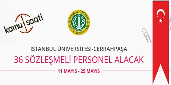 İstanbul Üniversitesi Cerrahpaşa 36 Personel Alımı