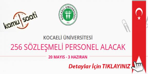Kocaeli Üniversitesi 256 Sözleşmeli Personel Alımı Yapacak İş Başvurusu ve Başvuru Formu 2020