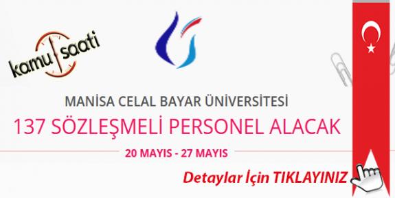 Manisa Celal Bayar Üniversitesi 137 Sözleşmeli personel Alımı Yapacak İş Başvurusu ve Başvuru Formu