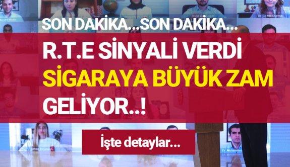 Recep Tayyip Erdoğan, Gençlerle yaptığı online toplantı da sigaraya büyük zam 2020 sigara zammı