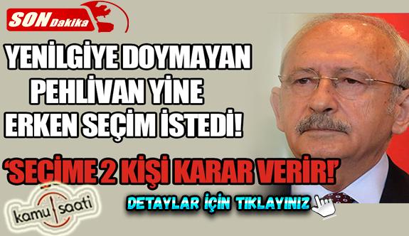 Tüm Genel Seçimleri Kaybeden Kemal Kılıçdaroğlu: Seçime gidip gitmeyeceğimize iki kişi karar verir