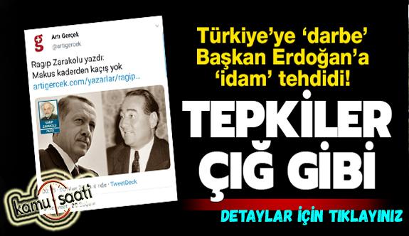 Türkiye'ye 'darbe' Başkan Erdoğan'a 'idam' tehdidi! Ragıp Zarakolu'ya tepkiler çığ gibi