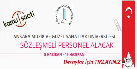 Ankara Müzik ve Güzel Sanatlar Üniversitesi Personel Alımı İş İlanları Başvuru formu