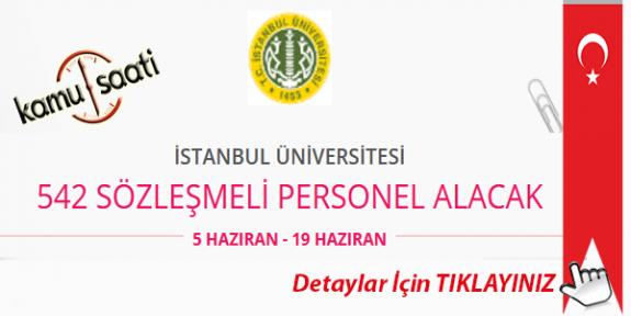 İstanbul Üniversitesi Cerrahpaşa 542 Personel Alımı