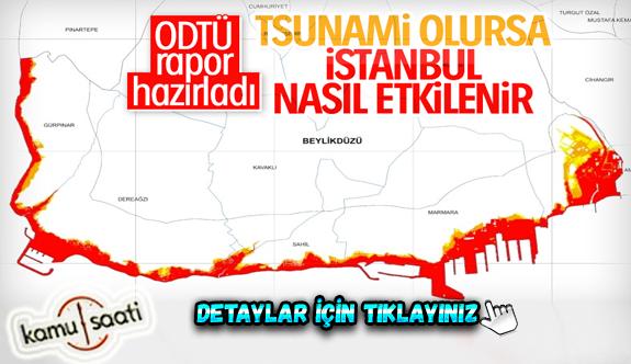 İstanbul'un tsunami risk haritası