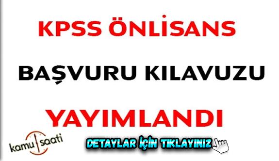 2020 KPSS önlisans başvuru kılavuzu yayımlandı