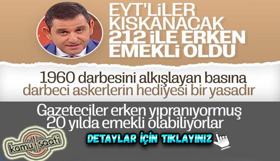 Fatih Portakal, basın sigortasıyla emekli olmuştu
