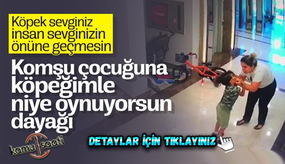 İstanbul'da komşu çocuğuna 'köpeğimle oynama' dayağı