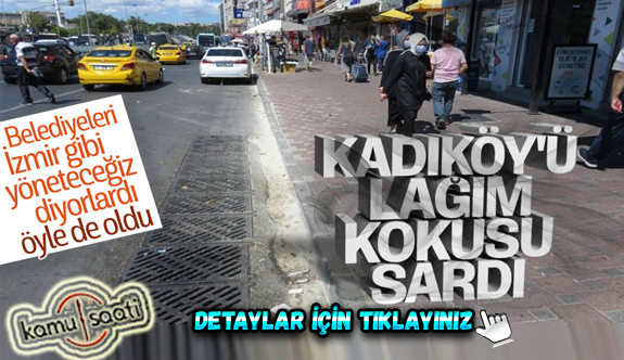 Kadıköy'deki lağım kokusu esnafı çileden çıkardı