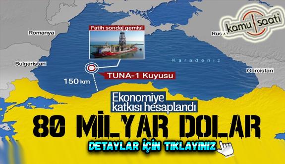 Karadeniz'de bulunan rezervin değeri 80 milyar dolar