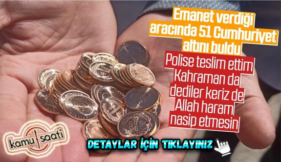 Kocaeli'de bir kişi aracında bulduğu altınları polise teslim etti