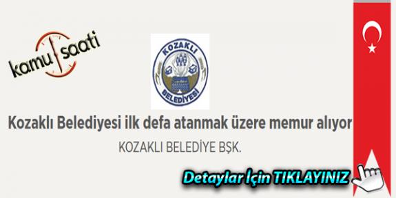 Kozaklı Belediyesi 3 memur personel alımı Yapacak