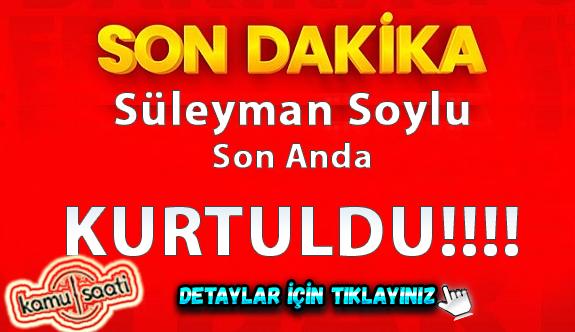 Süleyman Soylu son anda kurtuldu iŞTE O NEFES KESEN ANLAR!!!