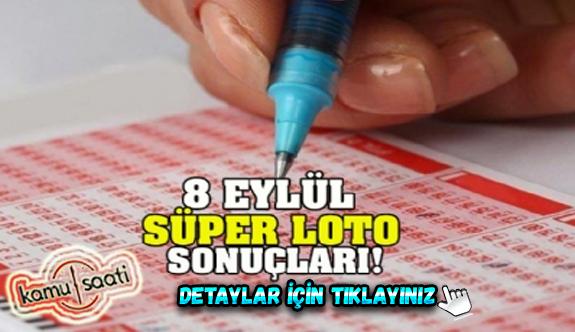 8 Eylül Salı Süper Loto sonuçları açıklandı!