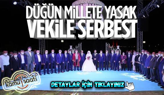 AK Parti Milletvekili Cemil Yaman, oğluna düğün yaptı