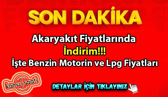 Akaryakıt fiyatlarında indirim!!! İşte Benzin Motorin ve Lpg Fiyatları 23 Eylül 2020