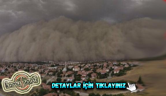 Ankara'daki kum fırtınasına karışan işçi O Anları Anlattı