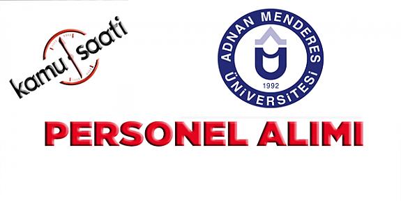 Aydın Adnan Menderes Üniversitesi 20 İşçi Personel alımı yapacak