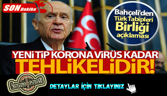Bahçeli'den Türk Tabipleri Birliği açıklaması!