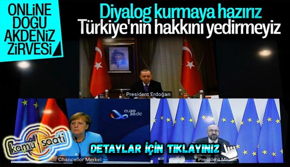 Cumhurbaşkanı Erdoğan, AB Konseyi Başkanı Michel ve Merkel'le görüştü