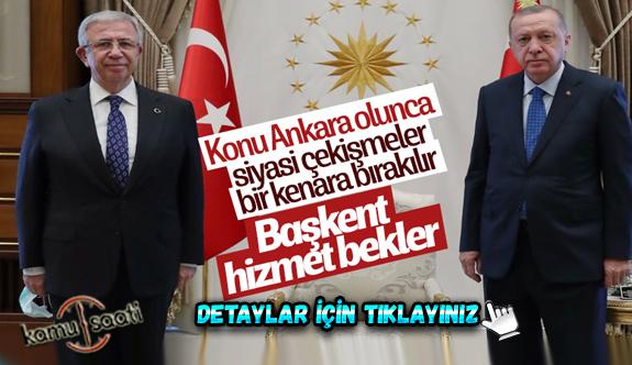Cumhurbaşkanı Erdoğan, Mansur Yavaş'ı Külliye'de kabul etti
