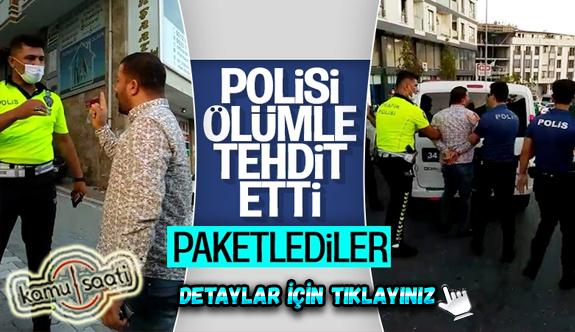 Esenyurt'ta polisi tehdit eden zorba sürücü gözaltına alındı