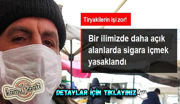 Giresun'da kamuya açık alanlarda sigara içmek yasaklandı