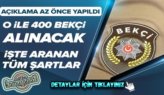 İstanbul'da görevlendirilmek üzere 400 bekçi alınacak | 2020-1. dönem çarşı ve mahalle bekçiliği için şartlar neler?