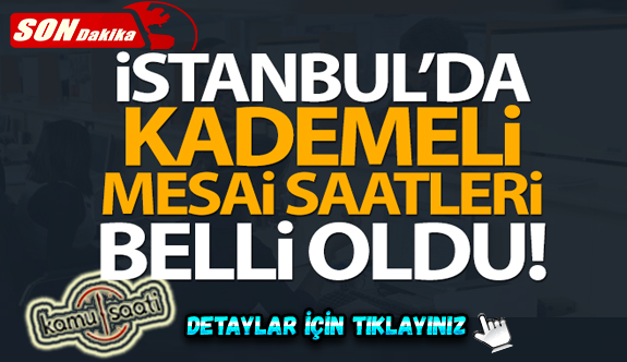 İstanbul Valisi Yerlikaya'dan kademeli mesai saati açıklaması!