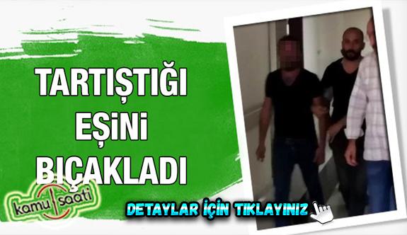 Kayseri'de Şok Edecek Olay! tartıştığı eşini bıçakladı
