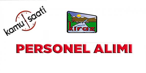 Kiraz Belediyesi Personel Alımı, İş Başvurusu ve başvuru formu