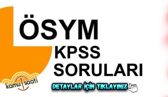 KPSS Alan Bilgisi sınavı sorularını Tek Tek Değerlendiriyoruz