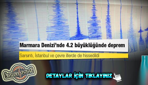 Marmara 4.2 büyüklüğünde deprem ile sallandı
