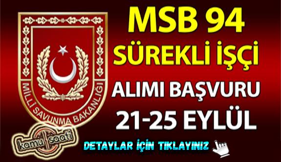 Milli Savunma Bakanlığı 94 İşçi Alacak