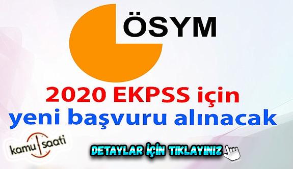 ÖSYM: EKPSS tarihi yeniden belirlenecek