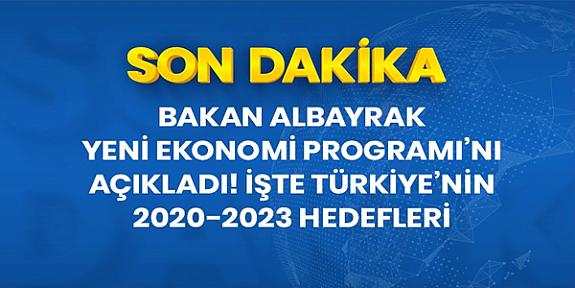 Son Dakika: Bakan Albayrak Yeni Ekonomi Programı'nı açıkladı! İşte Türkiye'nin 2020-2023 hedefleri
