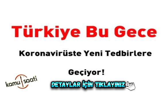 Türkiye 9 Eylül Çarşamba'dan itibaren korona virüste yeni tedbirlere geçiyor! İşte madde madde...