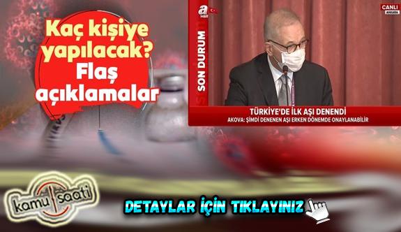 Türkiye'deki ilk corona virüs aşısı için açıklama geldi