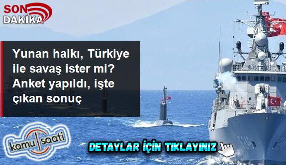 """Yunanistan'da yapılan anketten """"Türkiye'ye karşı askeri güç kullanılsın"""" sonucu çıktı"""